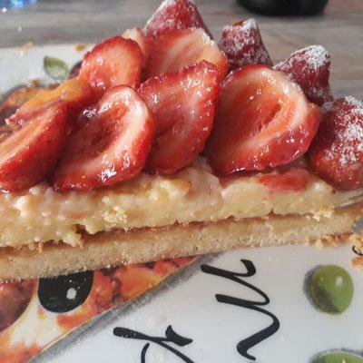 Tarte bretonne à la fraise 4