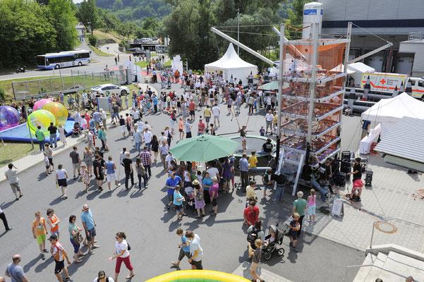 welcome-net, Veranstaltungsorganisation Stuttgart, Familientag, Luftaufnahme Familienfest