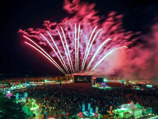 welcome-net Stuttgart, Eventmanagement, Feuerwerk Sindelfingen beim Open-Air Fanta 4 Daimler, Großveranstaltung