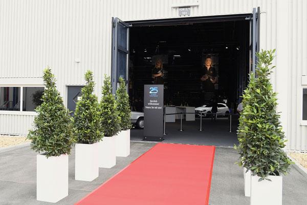 welcome-net Stuttgart, Full-Service-Agentur, Roter Teppich 25 Jahre Mercedes-Benz Werk Rastatt