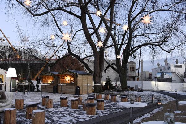 welcome-net Stuttgart, Eventagentur, kreatives Set-Up Weihnachtsmarkt im Mercedes Event Center Sindelfingen