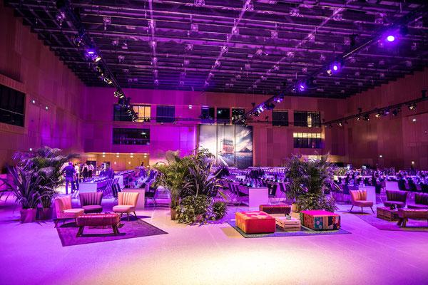 welcome-net, Event Stuttgart, Führungskräfte-Event, Lounge-Möblierung, RheinMain CongressCenter