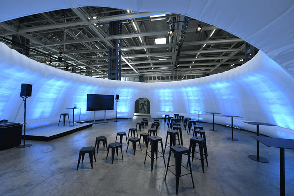 welcome-net Stuttgart, Event-Agentur, Mercedes-Benz Sindelfingen, Workshop Air Dome