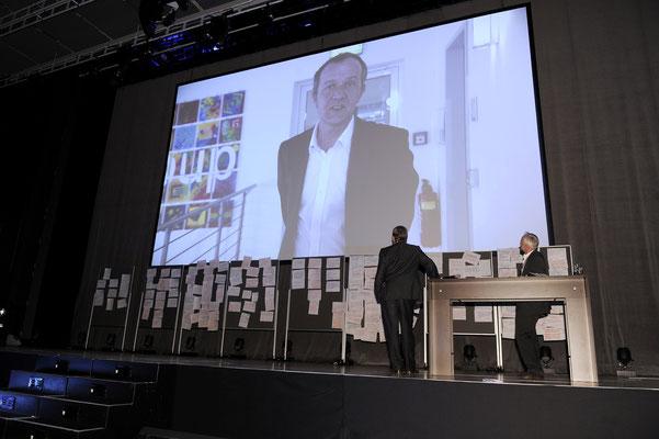 welcome-net, Event-Agentur Stuttgart, Live-Schaltung Bühne, MBtech, Messe Stuttgart Flughafen