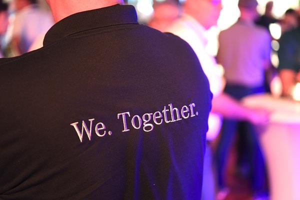 welcome-net, Eventagentur Stuttgart, Networking, Kraftwerk Rottweil, Führungskräfte-Veranstaltung, T-Shirt bestickt
