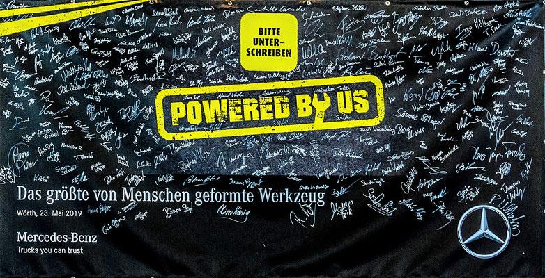 welcome-net, Event-Organisation Stuttgart, Guinness World Record, Unterschriften-Banner