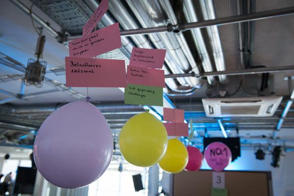 welcome-net, Full-Service-Agentur Stuttgart, Top-Management Meeting, Luftballons mit Botschaften