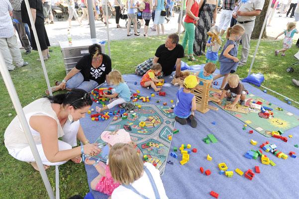 welcome-net, Veranstaltungsorganisation Stuttgart, Familientag, Kinderspielecke Bauklötze