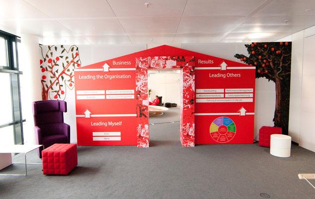 Set-Up Vodafone Veranstaltung, Eventplanung welcome-net Stuttgart