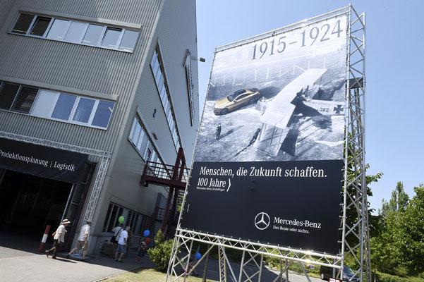 welcome-net Stuttgart, Eventmanagement, Großveranstaltung, Sindelfingen bei Stuttgart, Familienfest, Mitarbeiterfest, Banner historische Meile