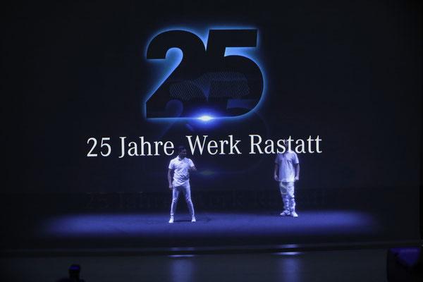 welcome-net Stuttgart, Full-Service-Agentur, 25 Jahre Mercedes Benz Werk Rastatt, Holografieshow, Bühnenshow
