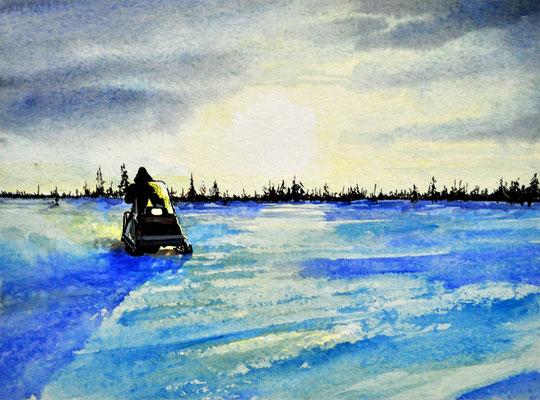 NORTH WEST WINTER // 26x19 cm // watercolor