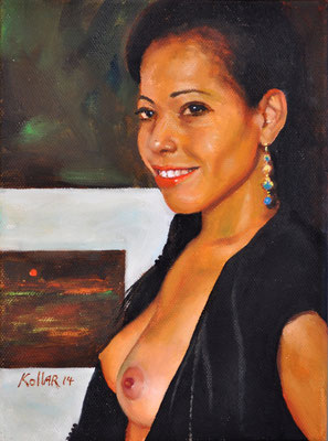 LADY FROM DOMINICAN REPUBLIC // 18x24 cm // oil on canvas