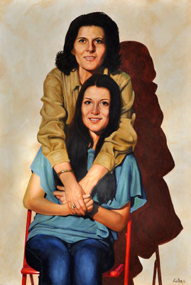 HATICE & DAUGHTER // 62x93 cm // oil on canvas