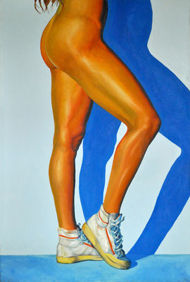 ROSI WITH TENNIS SHOES // 80x120 cm // oil on canvas
