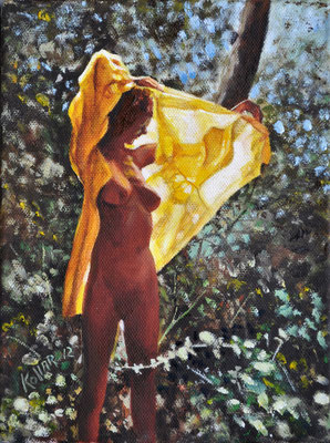 YELLOW ROBE // 18x24 cm // oil on canvas
