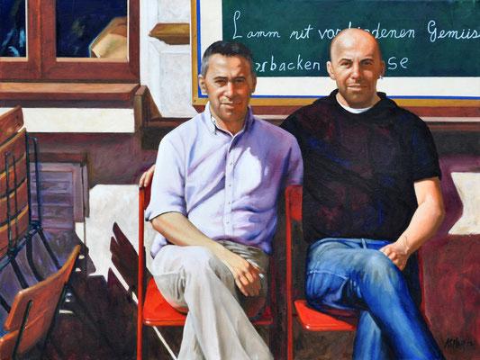ALI AND VELI // 80x60 cm // oil on canvas