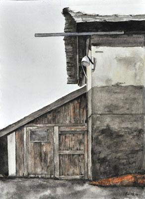 YARD LAMP // 56x42 cm // watercolor