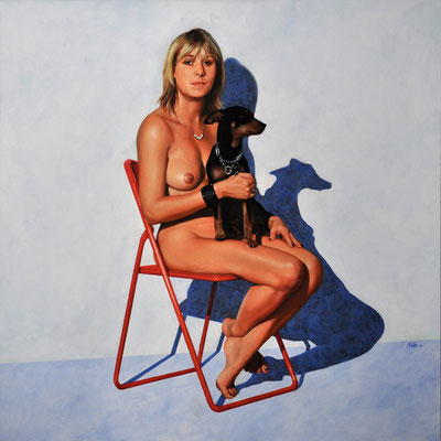SABINA – KINDERGÄRTNERIN // 100x100 cm // oil on canvas
