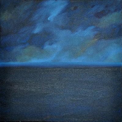 BLUE SEA // 50x50 cm //oil on canvas