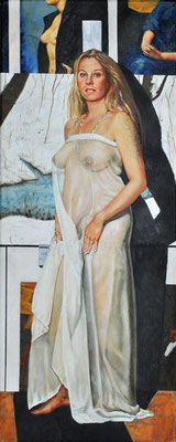 MISS SABINA WARRAS // 100x40 cm // oil on canvas