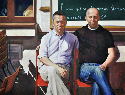 BROTHERS BY DILO // 80x60 cm // oil on canvas