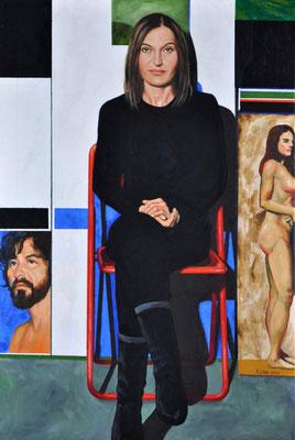 HATICE IN STUDIO // 62x93 cm // oil on canvas