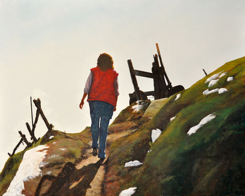 WALKING IN THE ALPS // 150x120 cm // oil on canvas