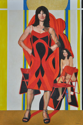PETRA IN NEW DRESS // 80x120 cm // oil on canvas