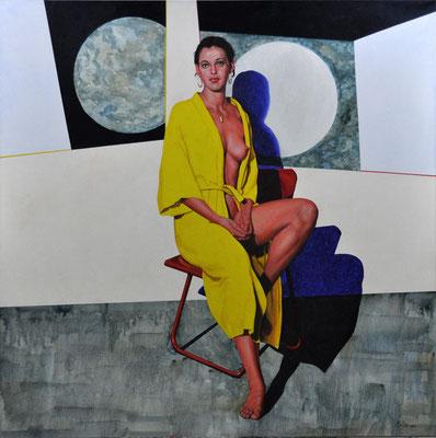 YELLOW ROBE // 135x135 cm // oil on canvas