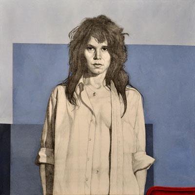 CHRISTINA – ACTRESS // 100x100 cm // oil on canvas