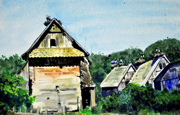 RUMANIAN VILLAGE // 23x15 cm // watercolor