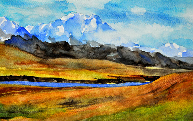 IN THE WEST // 31x19,5 cm // watercolor