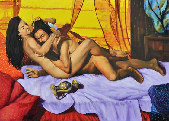 SAMSON AND DELILAH // 140x100 cm // oil on canvas