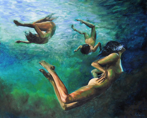 UNDERWATER BALLET // 100x80 cm // oil on canvas