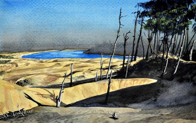 OREGON COAST // 28x18 cm // watercolor