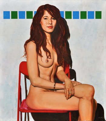 BIANCA IN RED CHAIR // 70x80 cm // oil on canvas
