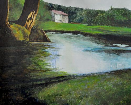 BAVARIAN FARM HOUSE // 100x80 cm // oil on canvas