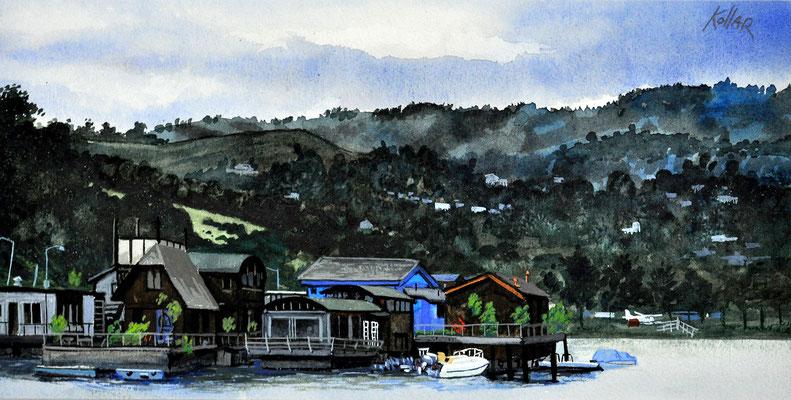 SAUSALITO, CALIF. // 28x13,5 cm // watercolor