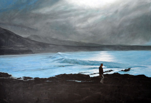 STROLLING ON THE SEA SHORE // 180x120 cm // oil on canvas