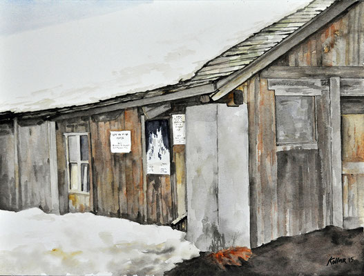 WORK SHED // 56x42 cm // watercolor
