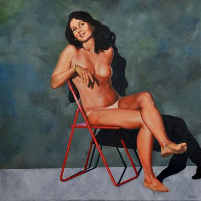 VICKIE // 100x100 cm // oli on canvas