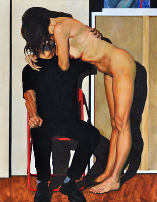 ARTIST AND MODEL // 70x90 cm // oil on canvas