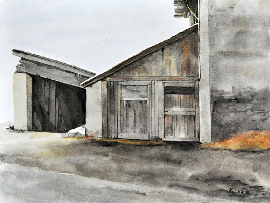 OLD BARN // 56x42 cm // watercolor