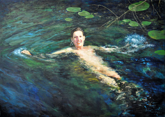 PATRICIA IN THE WORM RIVER // 140x100 cm // oil on canvas