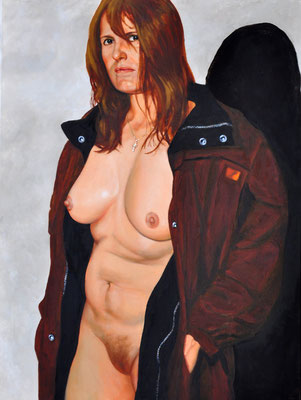 KATERINA IN BROWN COAT // 60x80 cm // oil on canvas