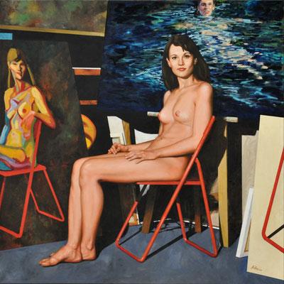 TINA – KINDERGÄRTNERIN // 100x100 cm // oil on canvas