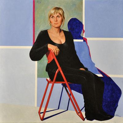 KATHRINA – DRUGSTORE CLERK // 100x100 cm // oil on canvas