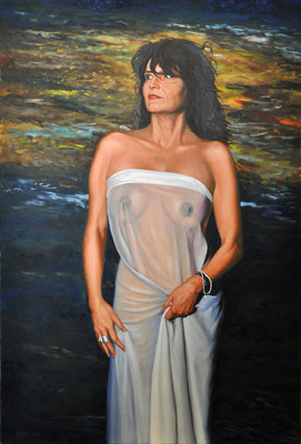 KATHRINA BY THE RIVER // 80x120 cm // oil on canvas