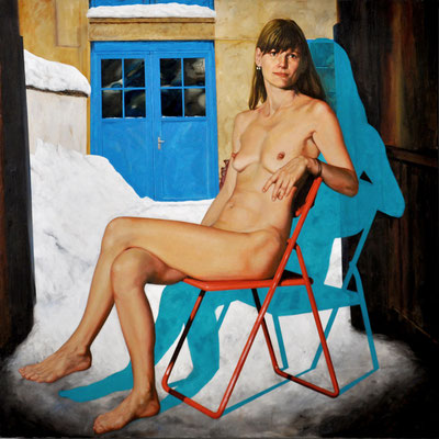 PETRA BY SNOW // 120x120 cm // oil on canvas